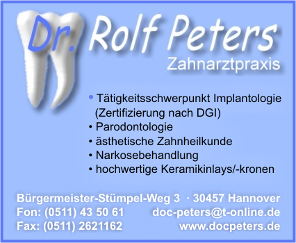 Peters, Dr. Rolf